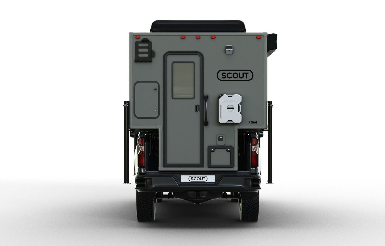 Scout campers kenai truck camper rear view