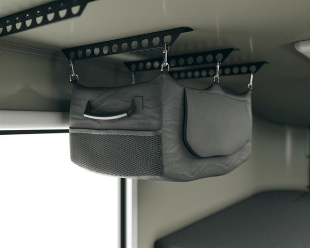 Scout campers kenai truck camper hanging storage bag