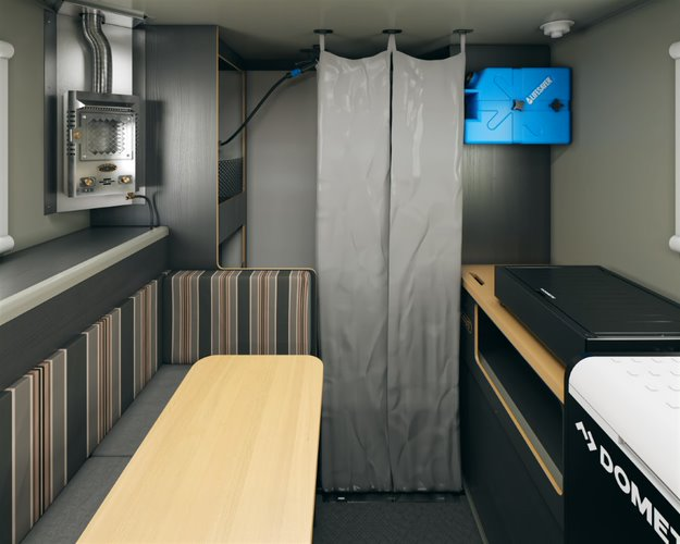 Scout campers kenai truck camper mud room shower