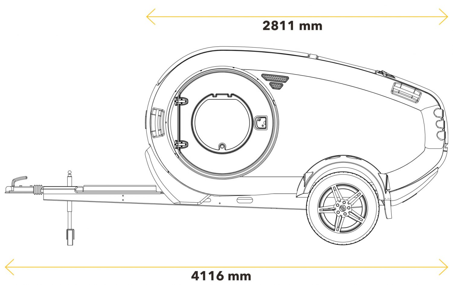 Mink teardrop trailer diagram
