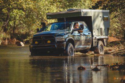 bison overland space wrangler river crossing