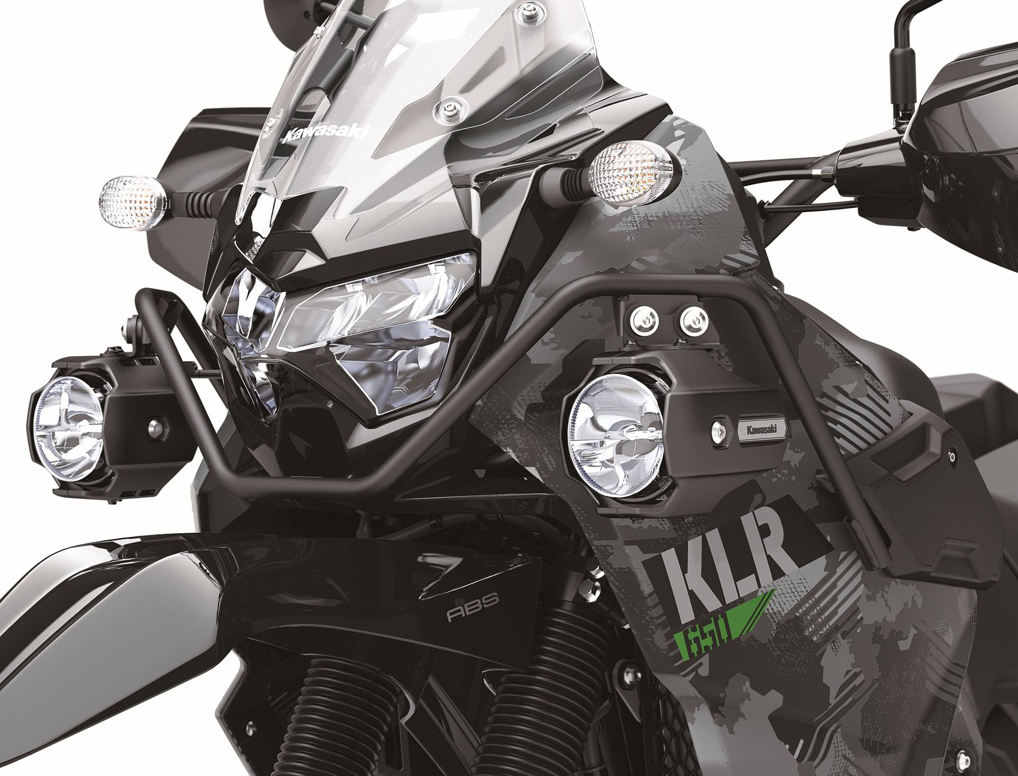 kawasaki KLR 650 front