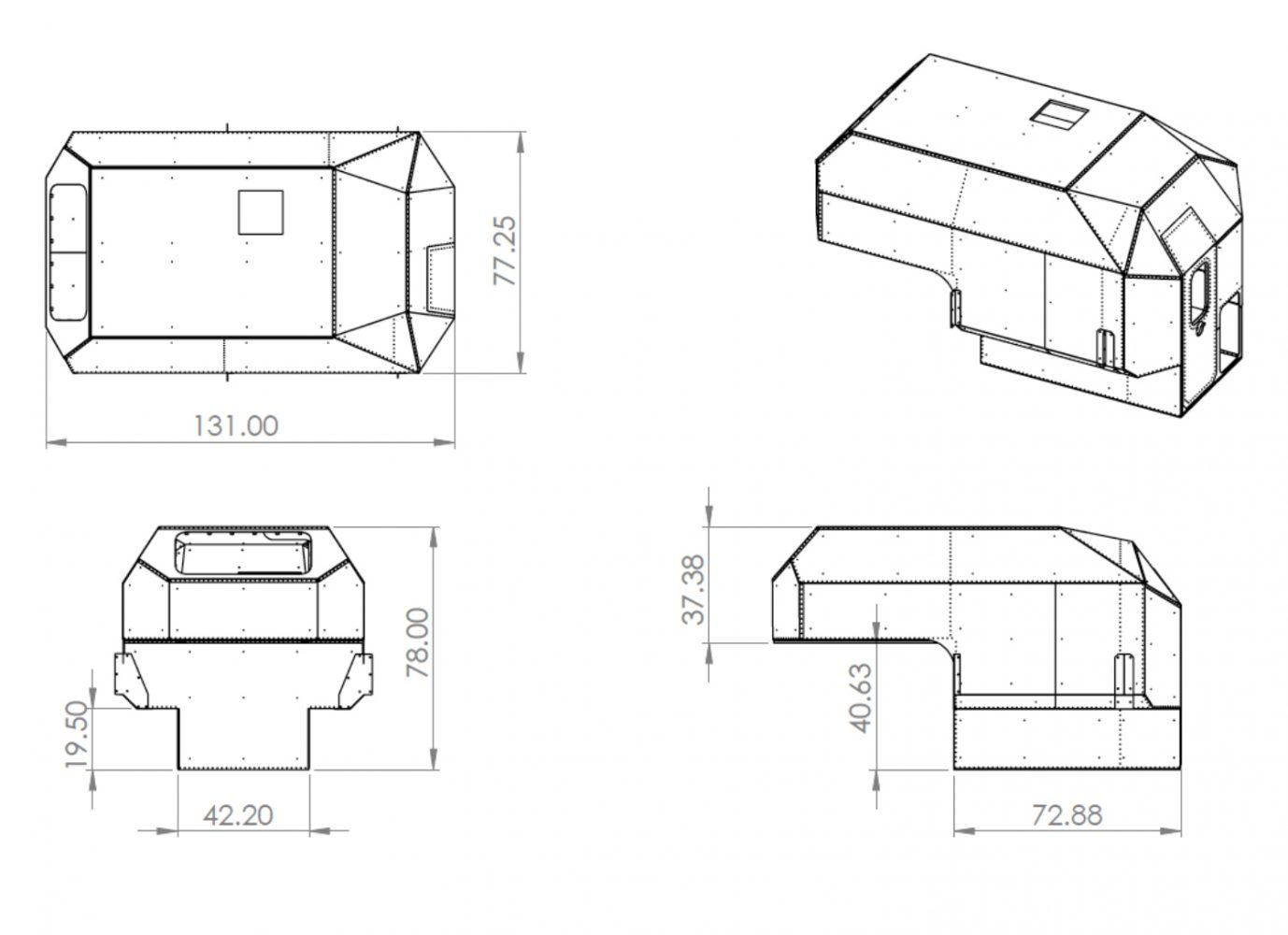 kimbo camper dimensions