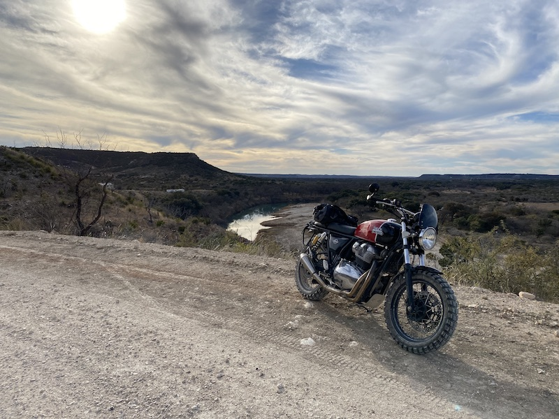 2020 Royal Enfield Interceptor on dirt