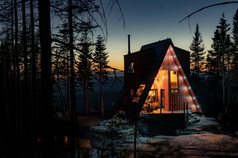a-frame cabin, canada