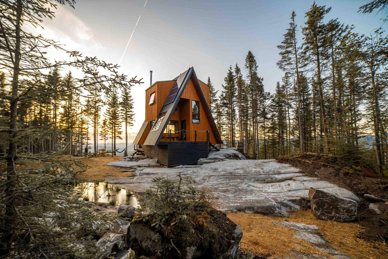 quebec a-frame cabin