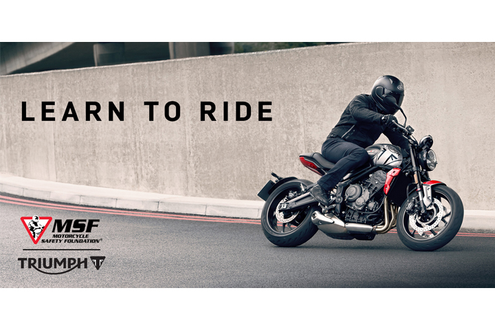 Motorcycle Safety Foundation learn to ride triumph motorcycles