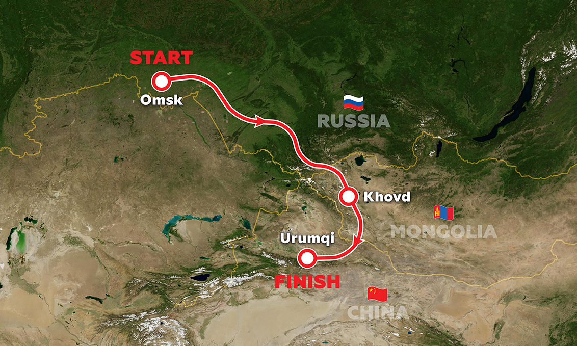 Silk Way Rally route