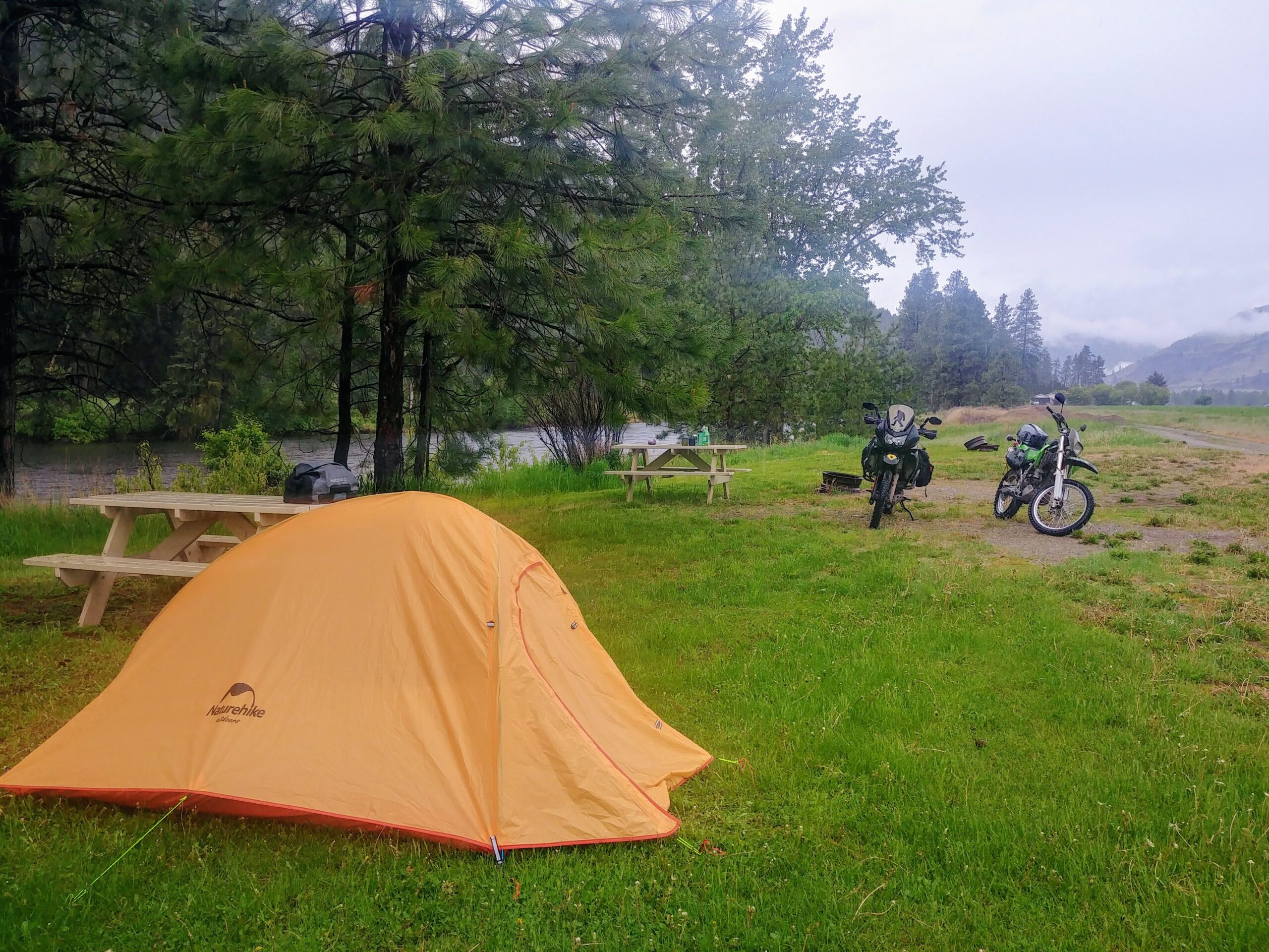 camping along canadian borer patrol route