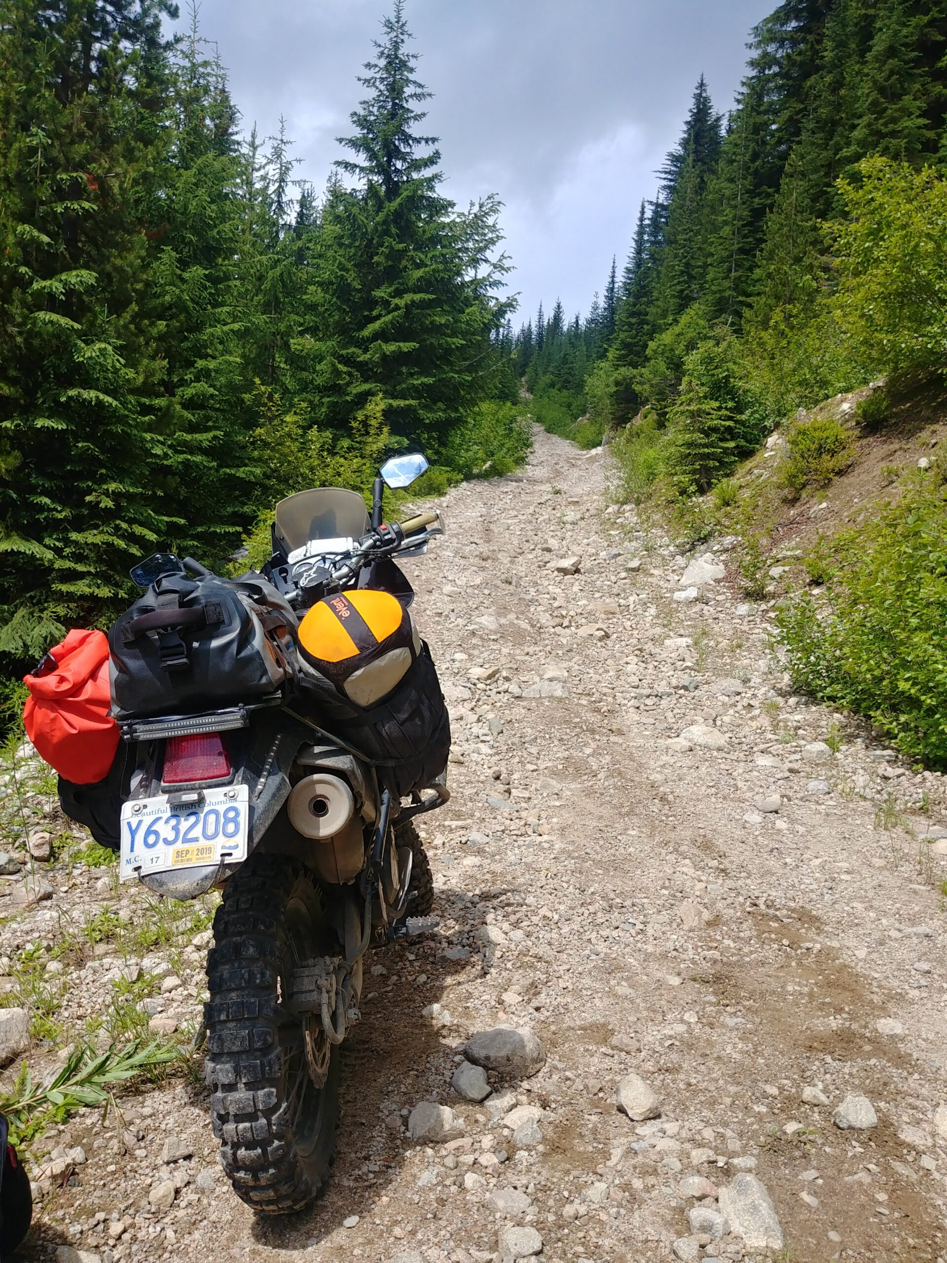 rocky track along canadian border patrol route