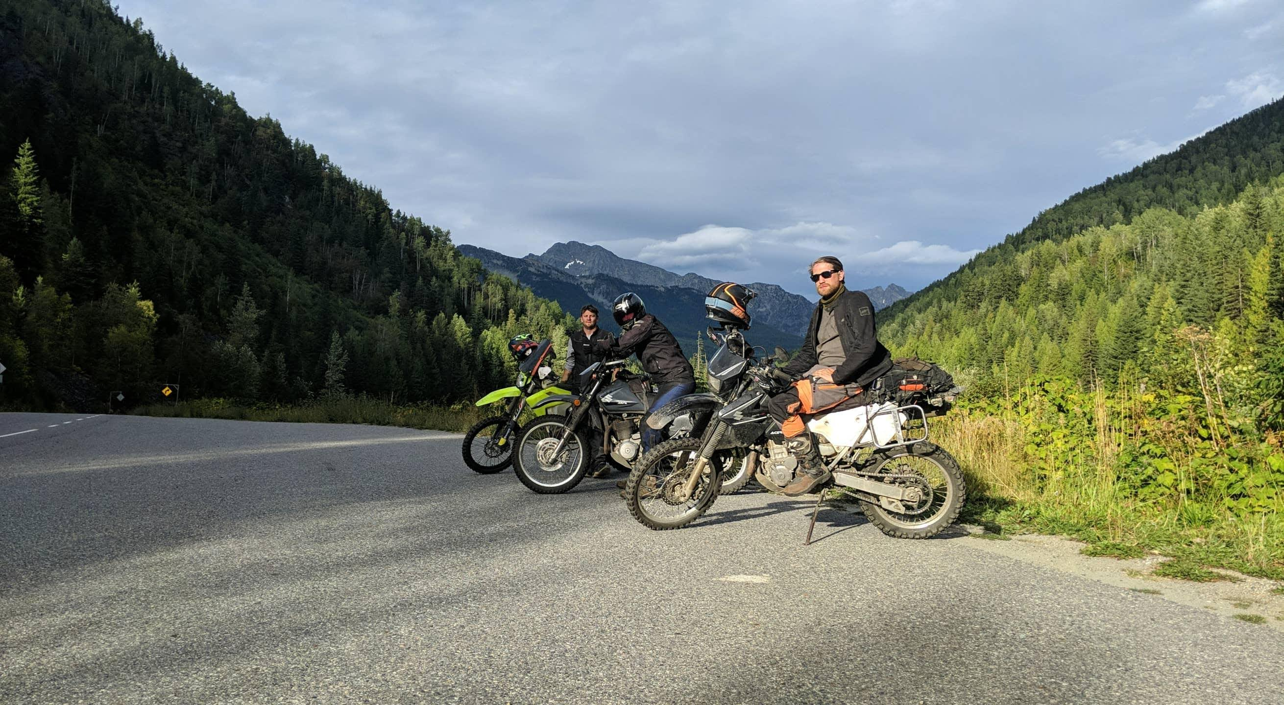 bikes along canadian border patrol route