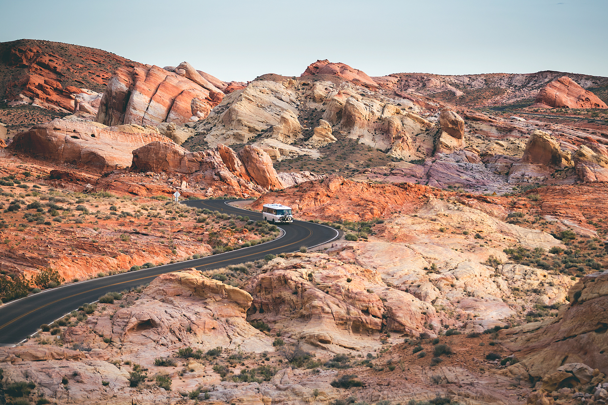 valley of fire state park colorful road