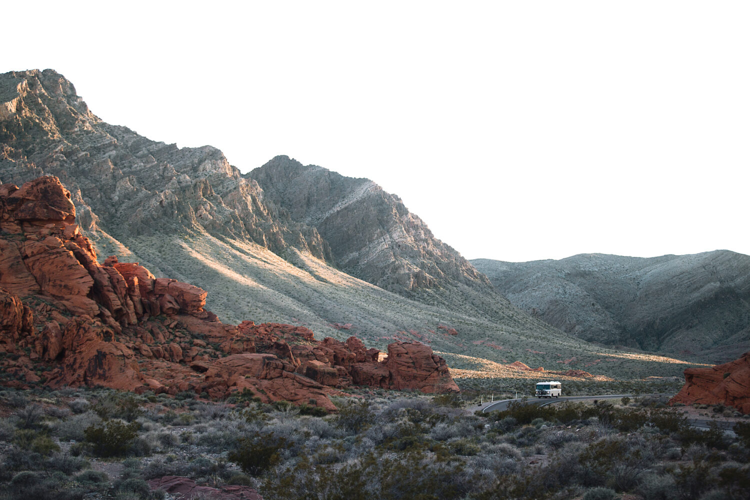 valley of fire state park evening sunlight