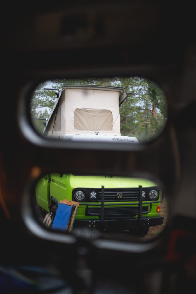 sisters campsite with VW