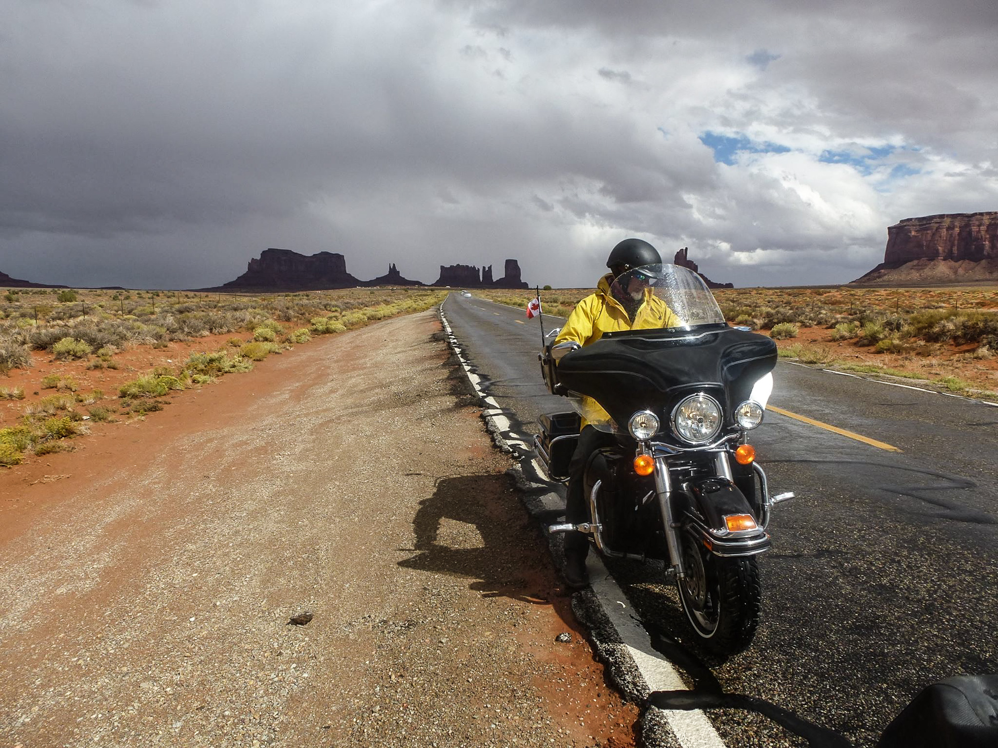 riding into monument valley
