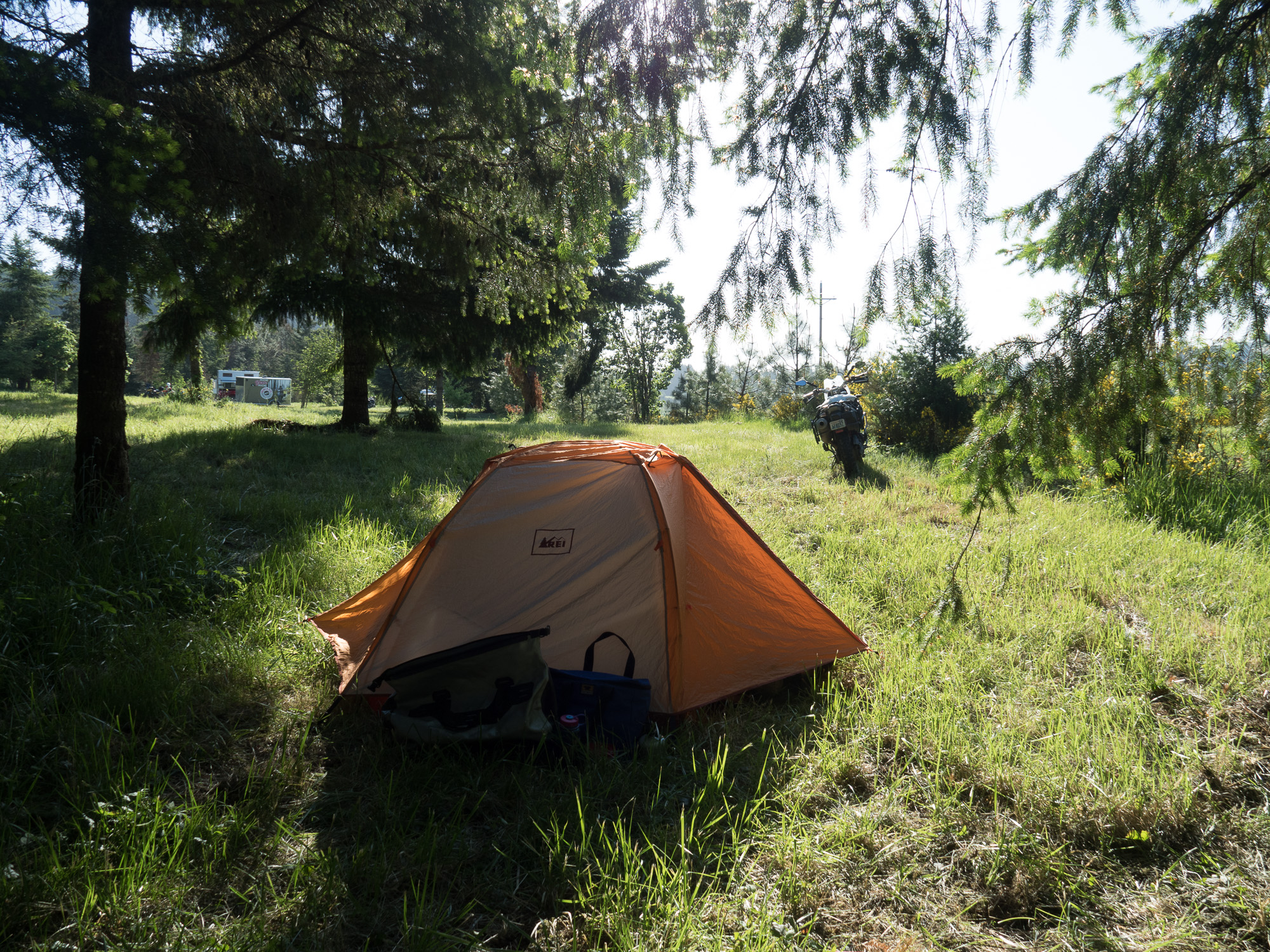 camping at moto training course