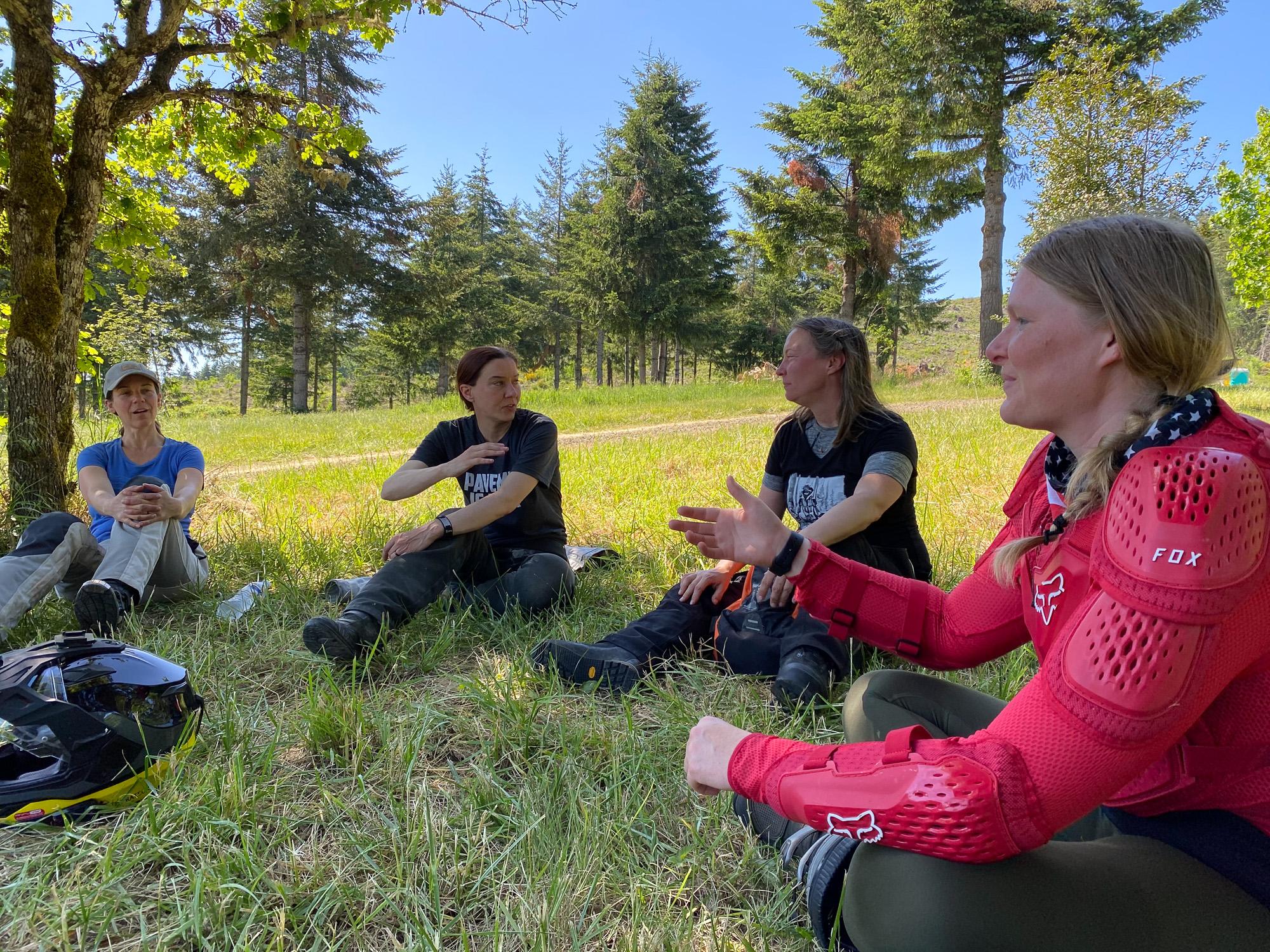 sheADV moto training course level 1/2 meeting people