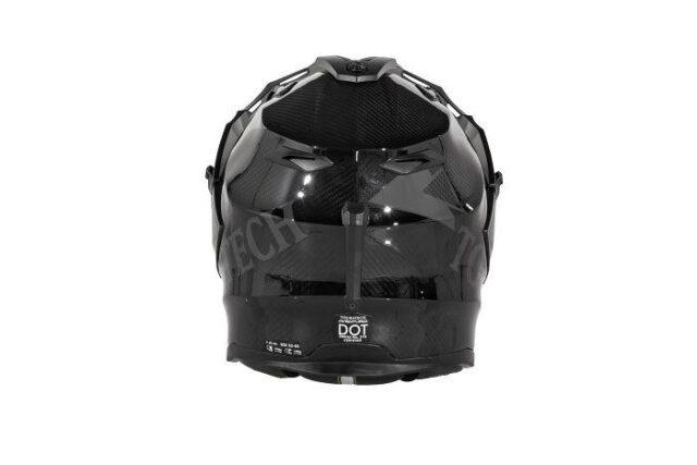 touratech's aventuro carbon 2 helmet back view