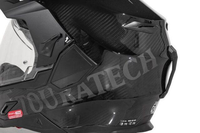 Touratech's Aventuro Carbon 2 ADV and Dual Sport helmet 2021 venting