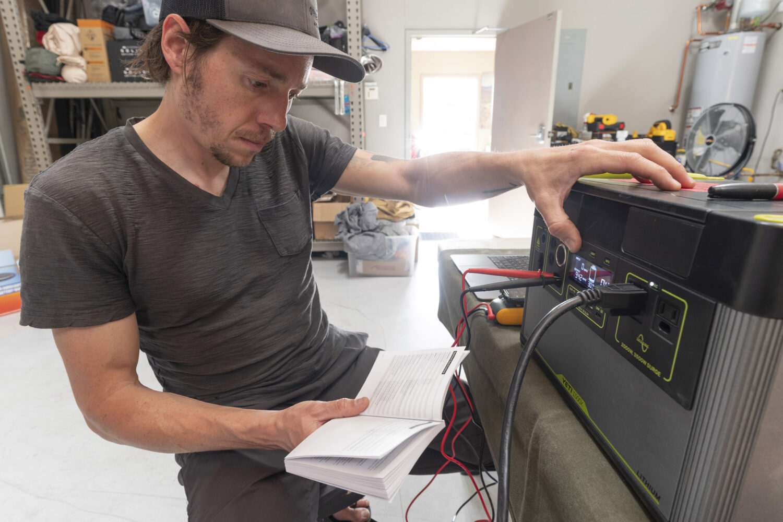 testing off-grid batteries