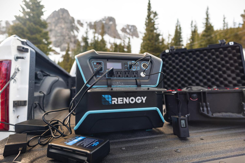 renogy lycan powerbox in truck bed