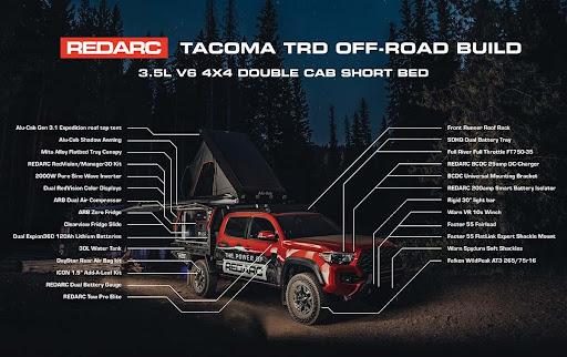 REDARC Tacoma equipment breakdown