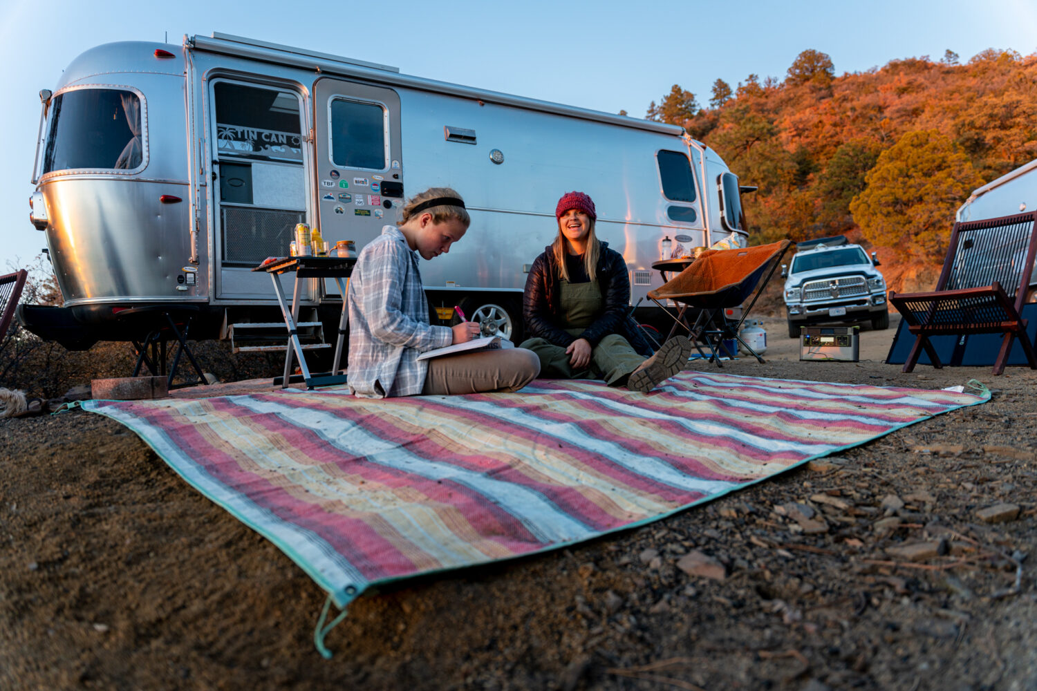 airstream and blanket